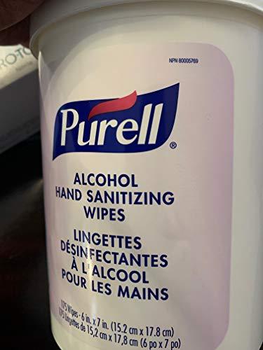 PURELL 9031-06 Premoistened Sanitizing Wipes, Alcohol Formulation, 6 X 7, White, 175/canister