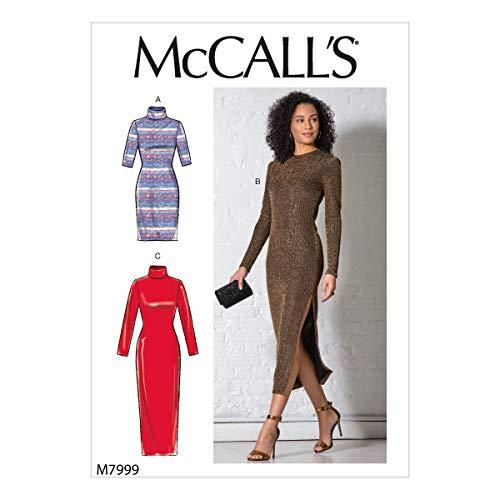 McCalls Naaipatroon M7999A Misses' Jurken Maat XS-S-M-L-XL, Papier, Verschillende kleuren