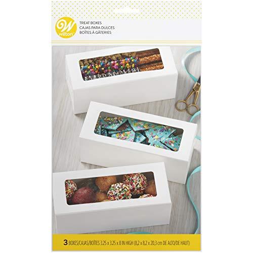 Wilton Pack de 3 Cajas rectangulares Blancas con Ventana