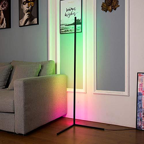 YXYOL Minimalistischen Stil LED-Fußboden-Lampe mit Fernbedienung, Nordic Modern Nacht Steht Fußboden-Licht, Ecke eines Boden Lampliving Schlafzimmer Beleuchtung bunten Licht Dimmbare Wohnkultur