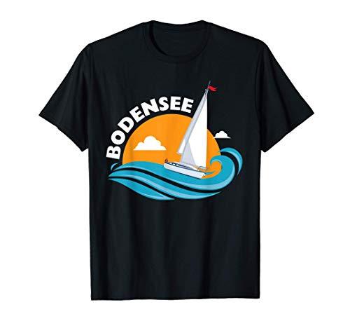 Segeln auf den Bodensee Wellen - Bodensee Geschenk T-Shirt