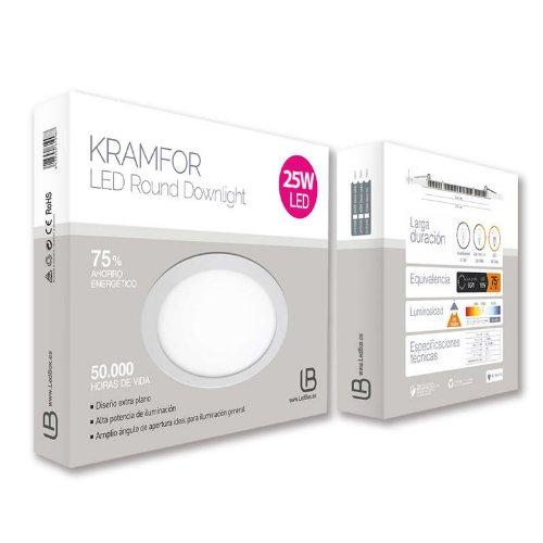 Ledbox LD1010315 - Downlight LED Kramfor, 25 W, color blanco neutro