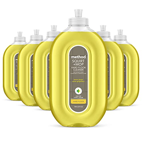 Method All Surface Eco Floor Cleaner Lemon and Ginger 739 ml (Pack of 6)