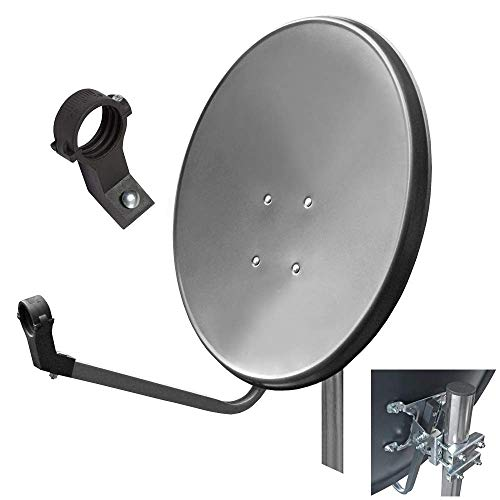 HD Digital Sat Anlage 60 cm Spiegel Antenne Schüssel 4K UHD Satellitenschüssel schüssel Spiegel ARLI dunkelgrau anthrazit