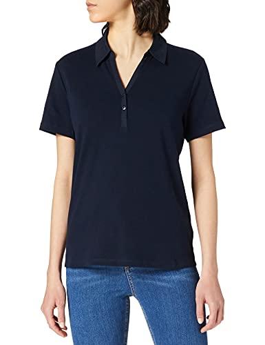 Cecil Damen Polo T-Shirt, deep Blue, XL