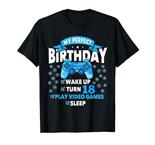 gamer birthday shirt 18 years