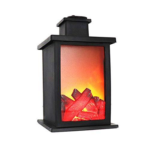 Verlichting voor paden, buitendecoratie, 1 stuks, led-open haard, vlammeneffect, lantaarn, duurzaam licht, voor tuin, gazon, kamer.