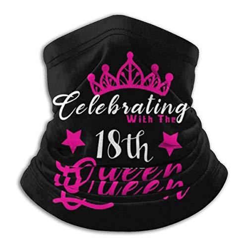 Hui-Shop Pasamontañas Celebrando con el décimo Octavo cumpleaños Queens Face Cover Neck Polaina Multi-Functional Balaclava Bandana Outdoor