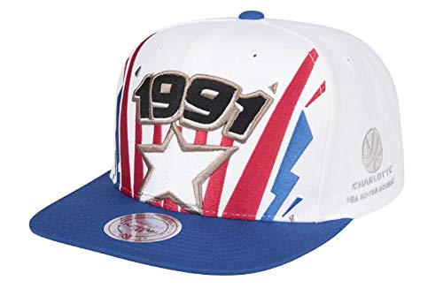 Mitchell & Ness 1991 Ticket Burst Snapback All-Star White - Gorra con cierre snapback, color blanco