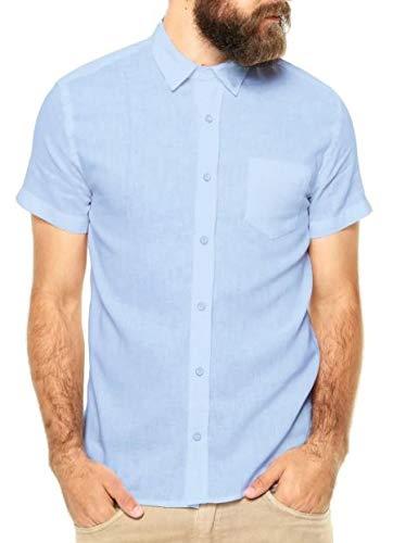 Camisa Social Manga Curta Slim Fit