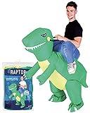 Déguisement Gonflable Dinosaure | Costume Gonflable Raptor | Qualité Premium | Taille Adulte | Polyester | Agréable à Porter | Résistant | Système de Gonflage Inclus | Créé par OriginalCup®