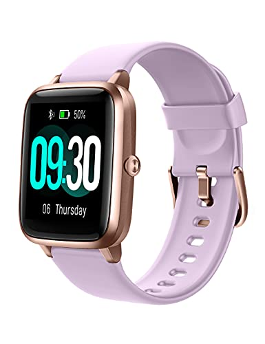 Willful Smart Watch for Android Phones and iOS Phones Compatible iPhone Samsung, IP68 Swimming Waterproof Smartwatch Fitness Tracker Fitness Watch Heart Rate Monitor Smart Watches for Men Women Violet