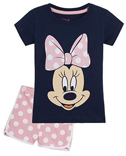 Disney Minnie Mouse Schlafanzug Mädchen, Zweiteiler Baumwolle Pyjama Set für...