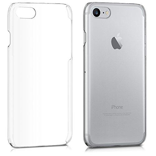 kwmobile Cover Compatibile con Apple iPhone 7 8   SE (2020) - Custodia Rigida Trasparente per Cellulare - Back Cover Cristallo in plastica - Trasparente