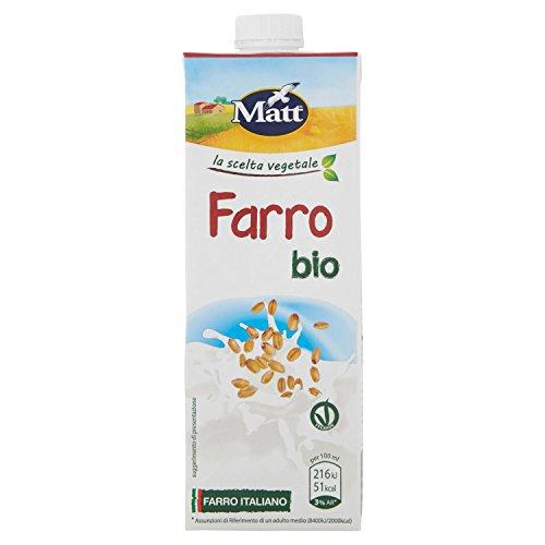Matt - Farro Bio - Bevanda Vegetale con Farro Italiano Bio - Senza Lattosio - 1 l
