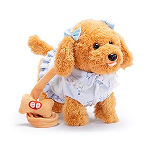 Chenggong Simulación de cuerda eléctrica para cachorros, juguete de princesa, vestido de mascota, perro caminar, juguete electrónico interactivo