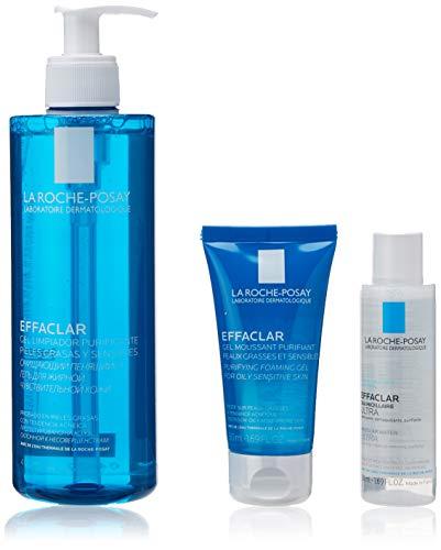 La Roche-Posay Pack effaclar gel 400ml + gel 50ml + amicelar 50ml