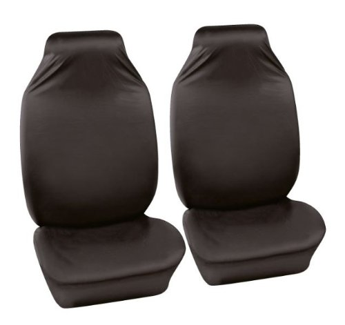 2 x Fronts Heavy Duty Black Pair Waterproof Car Front Seat Covers Protectors For Fiat Doblo Cargo