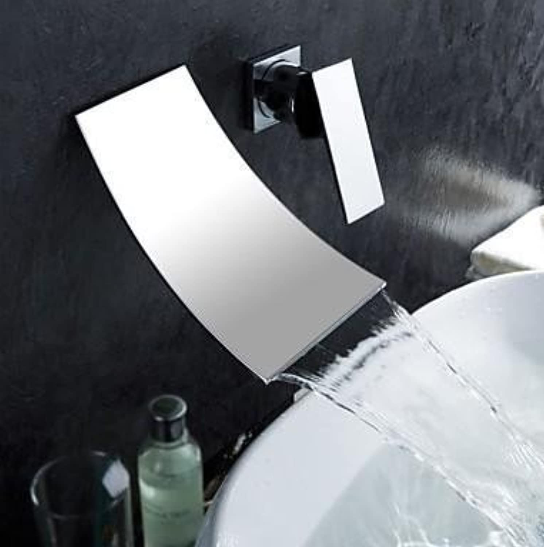 U-Enjoy Kupfer-Wannen-Chrom Top-Qualitt Badezimmer-Wasserfall-Hahn-Wandhalterung Badezimmer-Mischer-Wand-Tap Vanity [Kostenloser Versand]