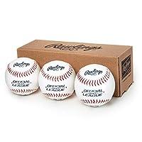 Rawlings Official League Recreational Use Baseballs, Box of 3, OLB3BBOX3