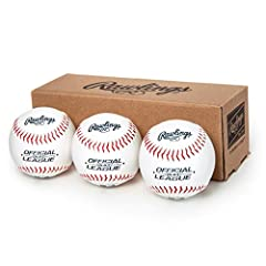 Designed for recreational use, this box of 3 Official League Baseballs features a solid cork and rubber center, making them ideal for batting practice or casual games Ideal for youth players ages 8 and under Easy to grip due to the synthetic leather ...