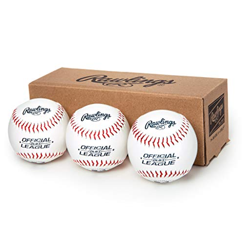 Rawlings Official League Recreational Use Baseballs, Box of 3, OLB3BBOX3