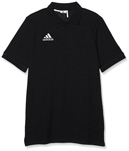 adidas Kinder Tiro 17 Poloshirt, Black/Dark Grey/White, 164