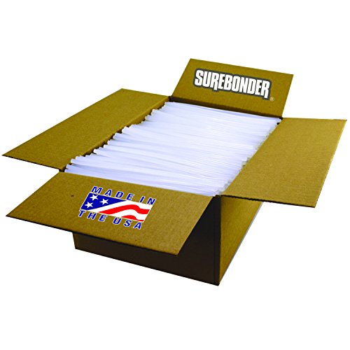 Surebonder 725M10 All Temperature Mini Glue Sticks, Made in The USA, 5/16' x 10' Length, 25 lb. Box, Clear (Pack of 1150)
