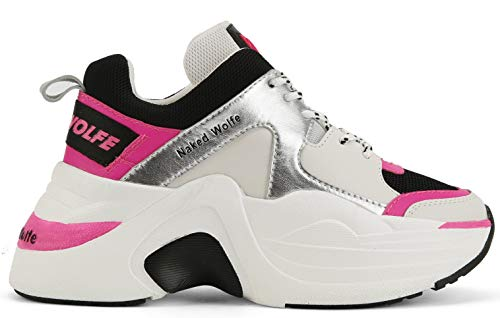 Nacked Wolfe Sneakers Track neon pink NWSTRACK NEOPINK