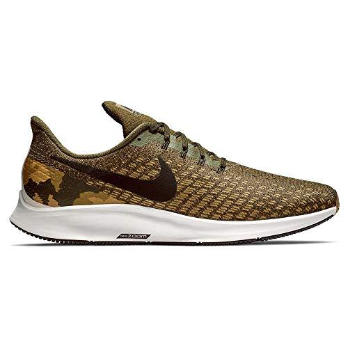 Nike Men's Air Zoom Pegasus 35 GPX Sneakers, Olive Canvas/Black (US 12)