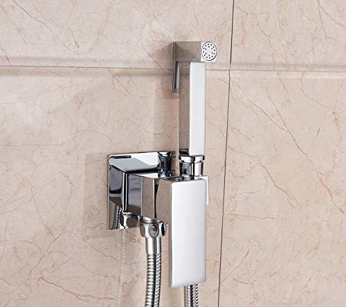 Grifo para bidé de baño Gold Rose Hot & amp;Grúa mezcladora en frío Baño Herramienta de descarga de inodoro Grifos de suelo para lavado Montaje en pared, cromado frío y caliente, como se muestra
