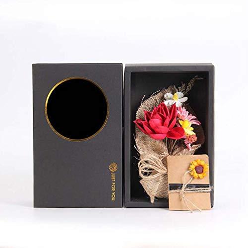 Bouquet di fiori di rosa naturale, veri e freschi raccolti secchi bouquet, fai da te, decorazione per scrivania, soggiorno, caffetteria, matrimonio, madre, persona amata