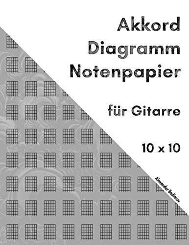 Akkord Diagramm Notenpapier für Gitarre: 10 x 10