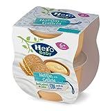 Hero Baby Tarrinas de Natillas con Galleta - Para niños a partir de 6 meses - 6 Packs de 2x130gr