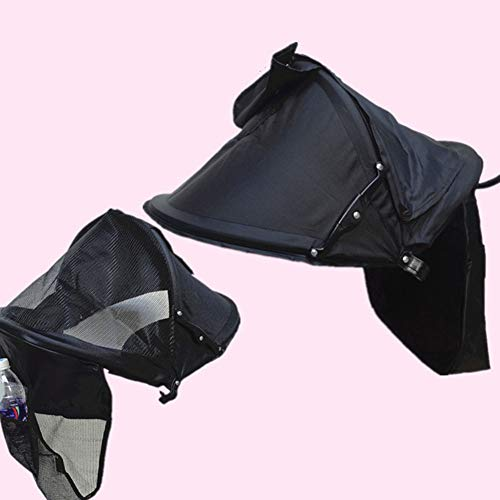 Poussette Sun Shade Canopy, Universal Oxford Cloth Baby Carriage Canopy Poussette Visor Cover Buggy Wide UV Protection Awning Mosquito Net Adjustable Stroller Stroller Umbrella