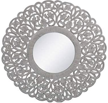 Decorative Mirror Black (Round)