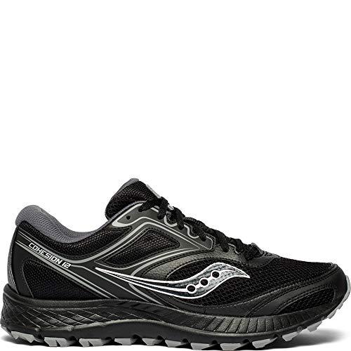 Saucony Men's VERSAFOAM Cohesion TR12 Trail Running Shoe, Black/Grey, 10.5 M US