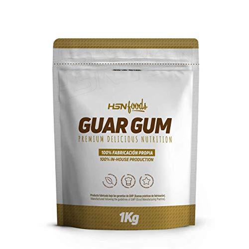 Goma Guar de HSN | Espesante Natural y Saludable para Recetas | Fuente de Fibra, Saciante | Vegano, Sin Gluten, Sin Lactosa, En Polvo, 150g