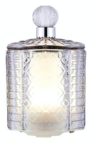 Made by Zen @ WOWOOO Diffusore di aromi in vetro con luce ambientale (ultrasuoni, aromaterapia e solitario) 18 centimetri Grey Tint