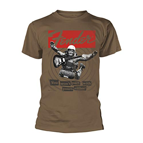 Tee Shack Fender Electric Guitar Skydive Oficial Camiseta para Hombre (Large)