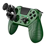 Daina Wireless Controller for PS4s Customizable Controller Remote with Programmable Rear Buttons Turbo and and Audio Function Gamepad Joystick Controller for PS4s/PS4s Pro/PS Slime