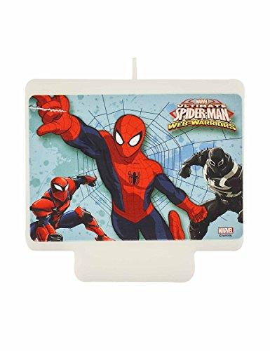 Procos- Candelina per Torte Spiderman, Multicolore, PR87886