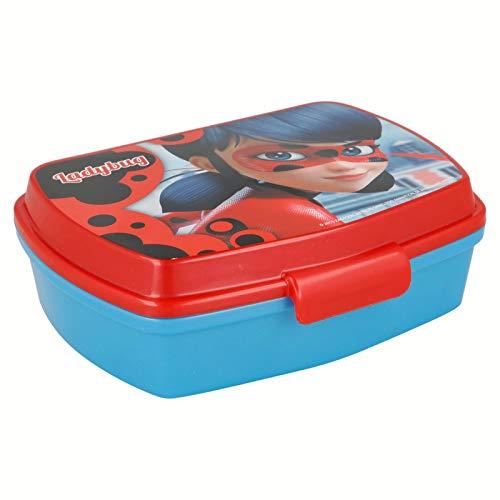 | Miraculous Ladybug | Sandwichera Para Niños Decorada - Fiambrera Infantil | Caja Para El Almuerzo Y Porta Merienda Para Colegio - Lonchera