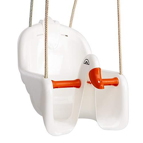 Paradiso Toys asiento columpio para bebé, cisne blanco/naranja