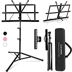 powerful CAHAYA 2 in1 Folding music stand and desk book stand Easy to carry …