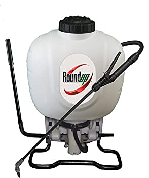 Roundup 190314 Backpack Sprayer for Fertilizers Herbicides Weed Killers & Insecticides 4 Gallon  White