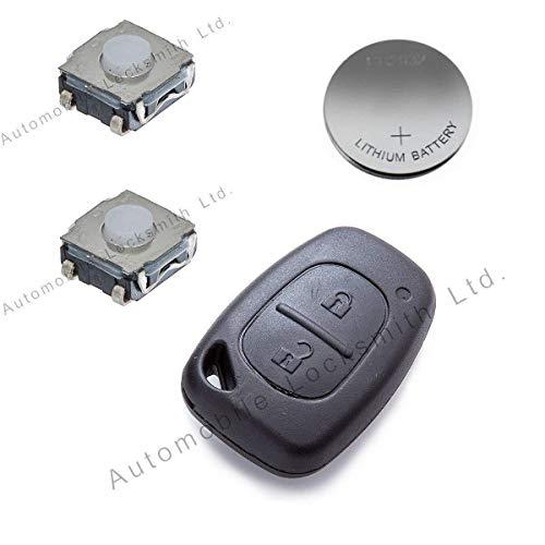 Automobile Locksmith - Kit de reparación para llave con mando para automóvil (2 botones)