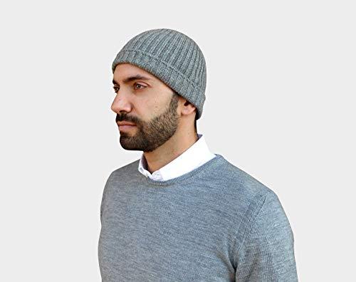 Baskenmützen & Barette, 100% Kaschmir kappe, Herren kappe, strickmuster, cashmere beanie hat