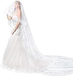 Umora ウエディングベール 花嫁のベール ブライダルベール 花嫁用品 エレガント 2重 ホワイト 4m