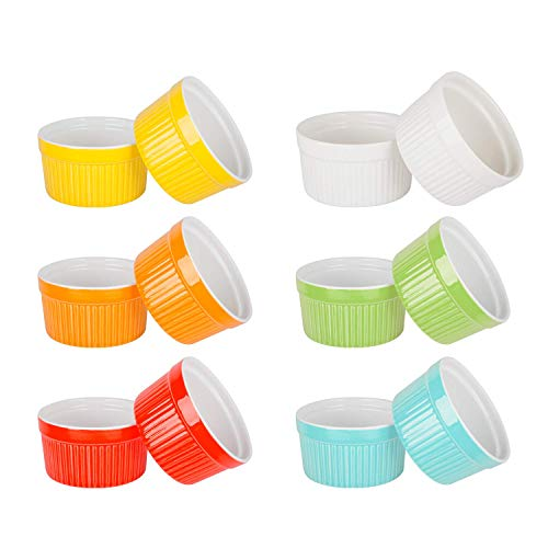 6 Ounce Porcelain Ramekins For Baking, Set of 12